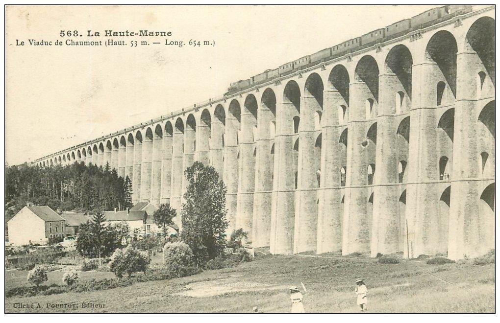 carte postale ancienne 52 CHAUMONT. Le Viaduc 1910