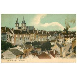 carte postale ancienne 52 CHAUMONT. Panorama 1913