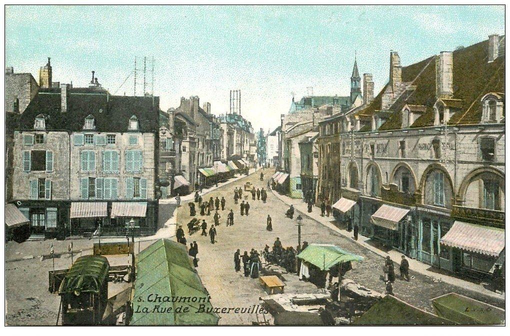 carte postale ancienne 52 CHAUMONT. Place de Buxereuilles
