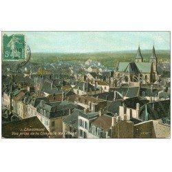 carte postale ancienne 52 CHAUMONT. Vue 1909 Pharmacie de la Poste