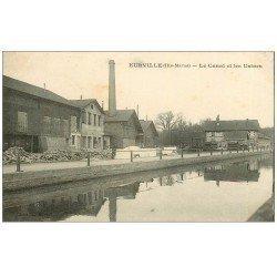 carte postale ancienne 52 EURVILLE. Canal et Usines 1917