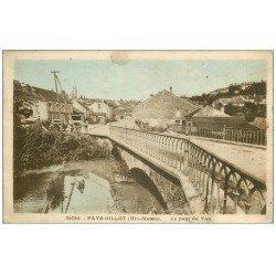 carte postale ancienne 52 FAYL-BILLOT. Le Pont de Vau 1933