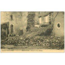 carte postale ancienne 52 HARAUCOURT. Ruines du Château avec Enfants