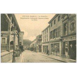 carte postale ancienne 52 JOINVILLE. Halles Grande Rue et Imprimerie Librairie. Vespasienne publicité SADI