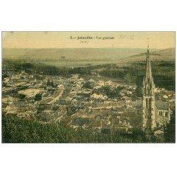 carte postale ancienne 52 JOINVILLE. Vue de la Ville. Carte de luxe toilée