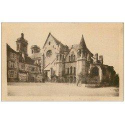 carte postale ancienne 52 LANGRES. Cathédrale Abside et Ecole de Garçons
