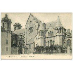 carte postale ancienne 52 LANGRES. Cathédrale Abside et Ecole de Garçons n°7