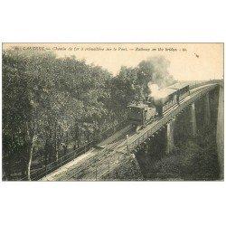 carte postale ancienne 52 LANGRES. Chemin de Fer à crémaillière sur le Pont