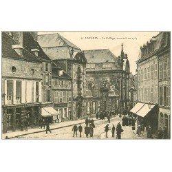 carte postale ancienne 52 LANGRES. Le Collège 1913