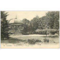 carte postale ancienne 52 LANGRES. Square et Kiosque à Musique 1916