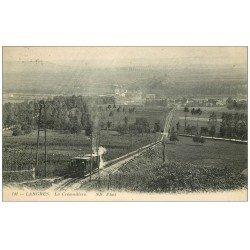 carte postale ancienne 52 LANGRES. Train à Crémaillière 1929