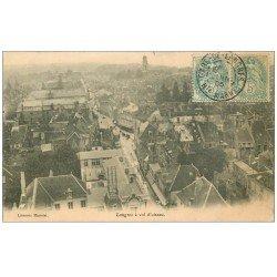 carte postale ancienne 52 LANGRES. Vue à vol d'Oiseau 1906