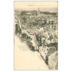carte postale ancienne 52 LANGRES. Vue panoramique vers 1900