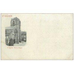 carte postale ancienne 52 SAINT-DIZIER. Eglise Notre-Dame. Timbre 1 Centime 1902