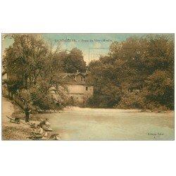 carte postale ancienne 52 SAINT-DIZIER. Fosse du Vieux Moilin 1931 Lavandières