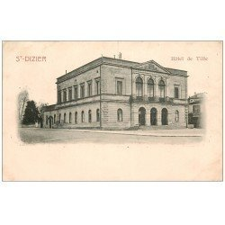 carte postale ancienne 52 SAINT-DIZIER. Hôtel de Ville. Timbre 1 Centime 1902