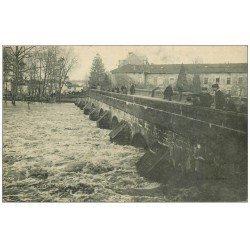 carte postale ancienne 52 SAINT-DIZIER. Le Grand Pont inondations de 1910