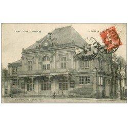 carte postale ancienne 52 SAINT-DIZIER. Le Théâtre 1917