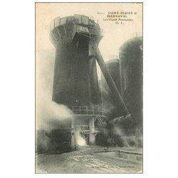 carte postale ancienne 52 SAINT-DIZIER. Les Hauts-Fourneaux. Marnaval 1919