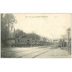 carte postale ancienne 52 SAINT-DIZIER. Locomotive à vapeur en Gare