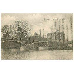 carte postale ancienne 53 CHANGE. Pont et Eglise