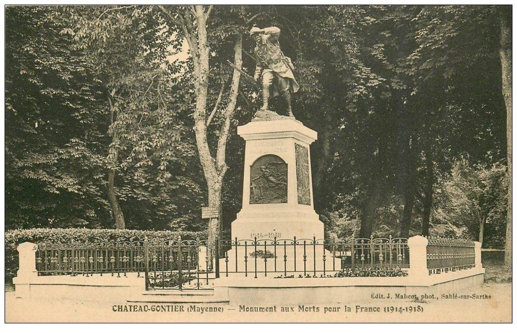 carte postale ancienne 53 CHATEAU-GONTIER. Monument aux Morts pour la France