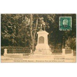 carte postale ancienne 53 CHATEAU-GONTIER. Monument aux Morts. timbrée mais vierge