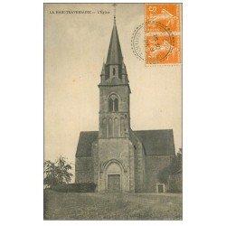 carte postale ancienne 53 LA HAIE-TRAVERSAINE. L'Eglise 1923