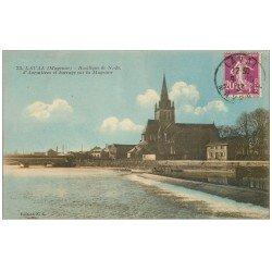 carte postale ancienne 53 LAVAL. Basilique et Barrage 1933