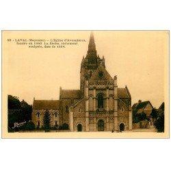 carte postale ancienne 53 LAVAL. Eglise d'Avesnières et sa Flèche