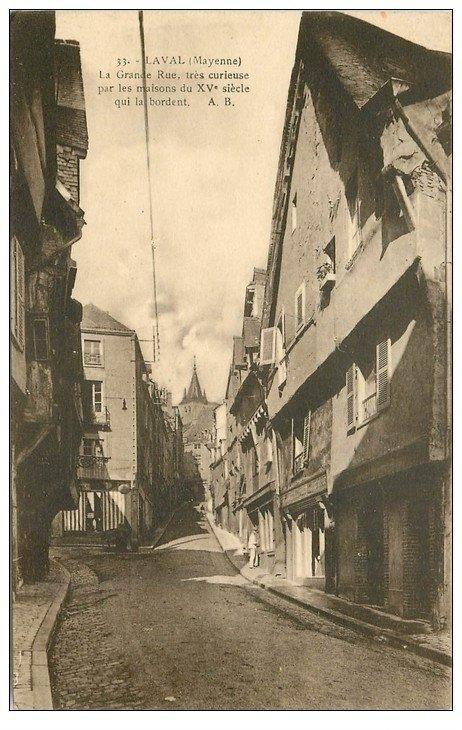 carte postale ancienne 53 LAVAL. Grande Rue