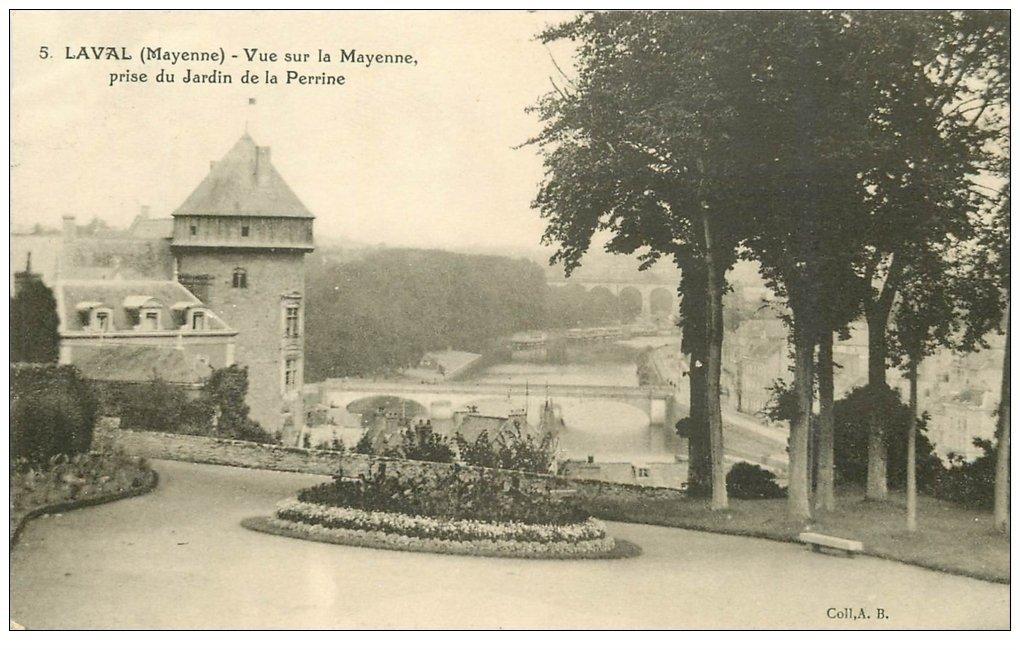 carte postale ancienne 53 LAVAL. Jardin de Perrine