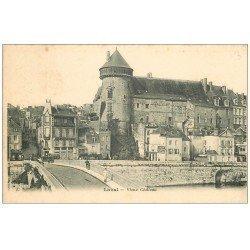 carte postale ancienne 53 LAVAL. Le Vieux Château. affiche Sel Cérébos