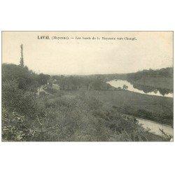 carte postale ancienne 53 LAVAL. Mayenne vers Changé 1919
