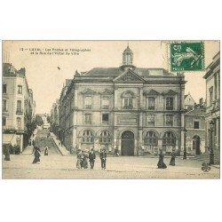 carte postale ancienne 53 LAVAL. Postes et Télégraphes Rue Hôtel de Ville 1909