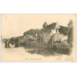 carte postale ancienne 53 LAVAL. Quai Jehan-Fouquet 1902