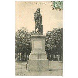 carte postale ancienne 53 LAVAL. Statue Ambroise Paré 1907