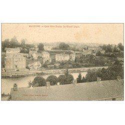carte postale ancienne 53 MAYENNE. Le Grand Logis Quai Rive Droite 1907