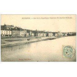carte postale ancienne 53 MAYENNE. Quai de la République Quartier Saint-Martin 1906