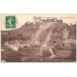 carte postale ancienne 53 SAINTE-SUZANNE. Côté Pont Neuf 1908