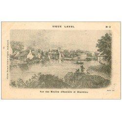 carte postale ancienne 53 VIEUX LAVAL. Avenière Moulins et Chantelou