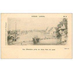 carte postale ancienne 53 VIEUX LAVAL. Avenière Vieux Pont de Laval