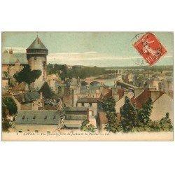 carte postale ancienne 53 VIEUX LAVAL. Du Jardin de la Perrine 1909