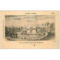 carte postale ancienne 53 VIEUX LAVAL. Pont de Laval de Bel-Air