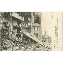 carte postale ancienne 02 CHAUNY. Ruines d'une Maison