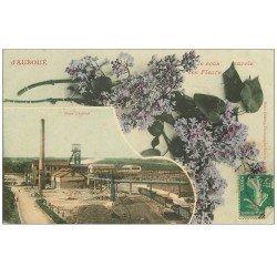 carte postale ancienne 54 AUBOUE. Mines et Fleurs 1911