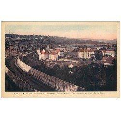 carte postale ancienne 54 AUBOUE. Pont du Raccordement, Gendarmerie et Cités Gare