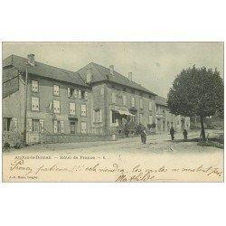 carte postale ancienne 54 AUDUN-LE-ROMAN. Hôtel de France 1902 et Gendarmerie