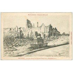 carte postale ancienne 54 BACCARAT. Le Lion devant les Ruines 1916