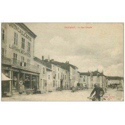 carte postale ancienne 54 BACCARAT. Quincaillerie Rue Grande 1916. Machines à coudre Cycles Peugeot Antoine Mécanicien